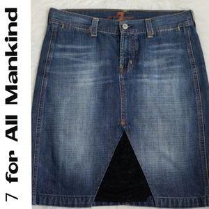7 for all Mankind Denim Skirt  - Size 28